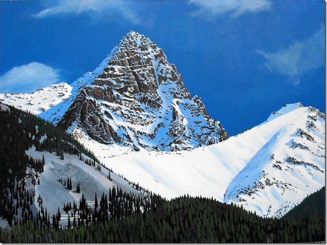Gaylon Dingler  Between Durango and Silverton  36X48  Acrylic