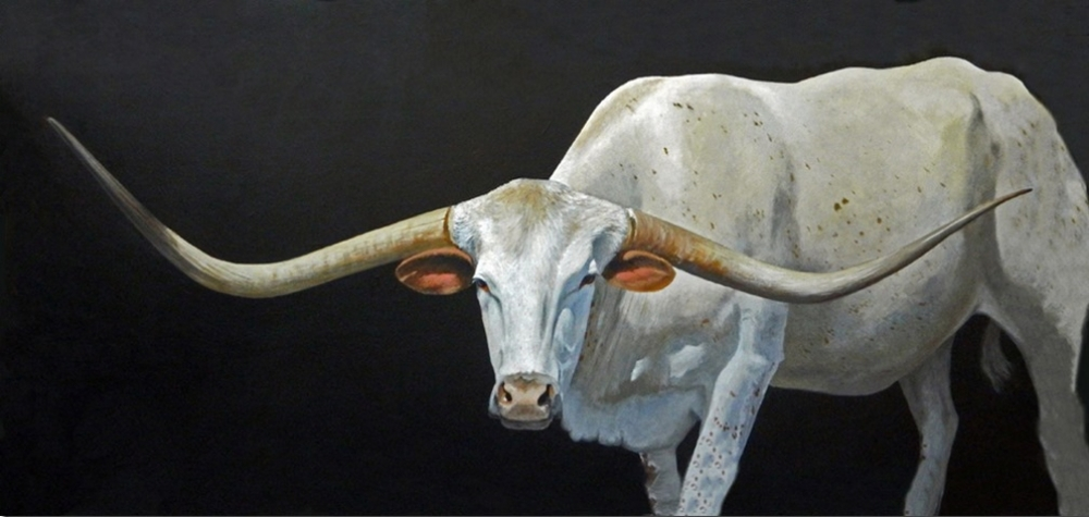 Gaylon Dingler  Long-Horned Longhorn  24X48  Acrylic  SOLD
