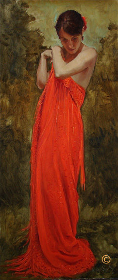 Anthony A. Gonzales  Ann  36X16  Oil on Linen