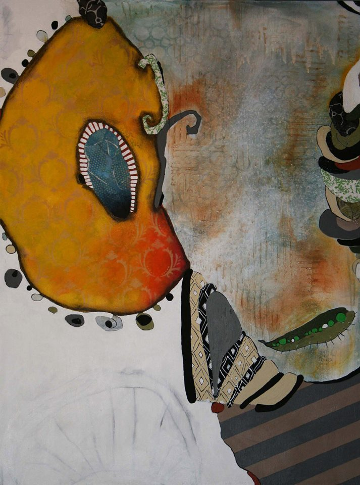 Coey West Watson  We Belong Together  40X30  Mixed Media on Canvas  SOLD