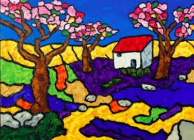 Eric Bodtker  Blossoming Trees  16X12  Oil