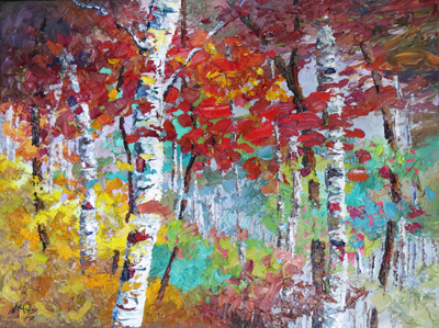 Niki Gulley  Song of the Woods  30X40  Oil