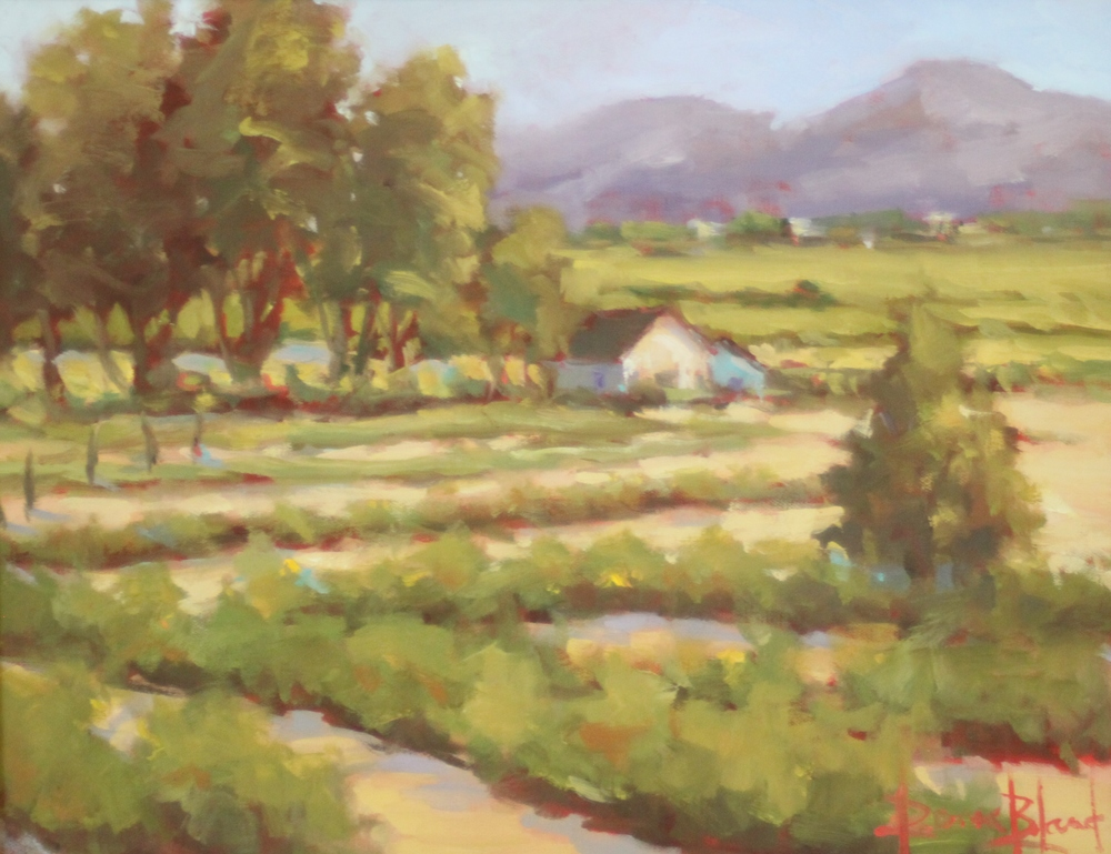 Donna Bland  Santa Fe Morning  12X16  Oil