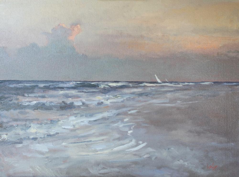 Randall Cogburn  Evening Sail  18X24  Oil on Canvas