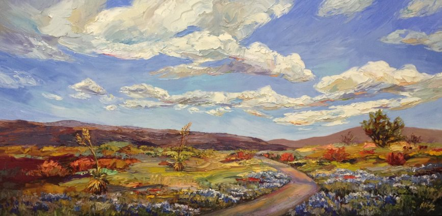 Niki Gulley Spring Escape 24X48 Oil $5,500.jpg