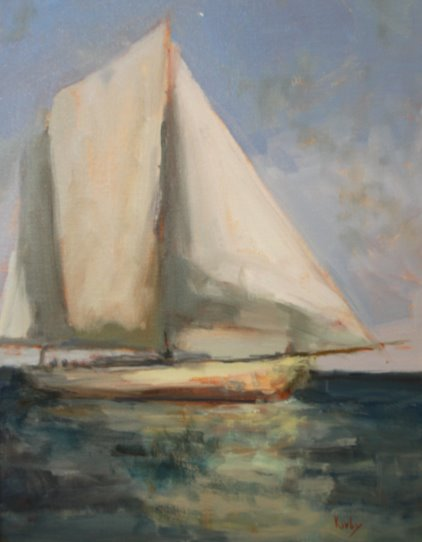 Randall Cogburn Approaching Port 14X11 Oil on Linen $400.jpg
