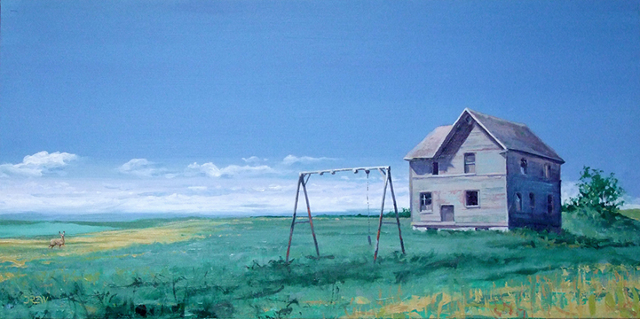 Drew Keilback Schools Out 18x36 Oil $810.jpg
