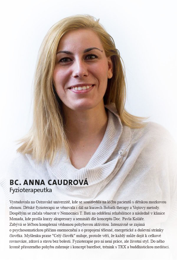 Bc. Anna Caudrová - fyzioterapeut
