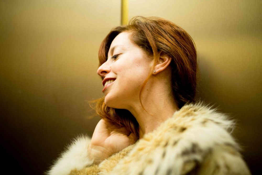 Ilyse, Elevator, Gold. October 21, 2015
