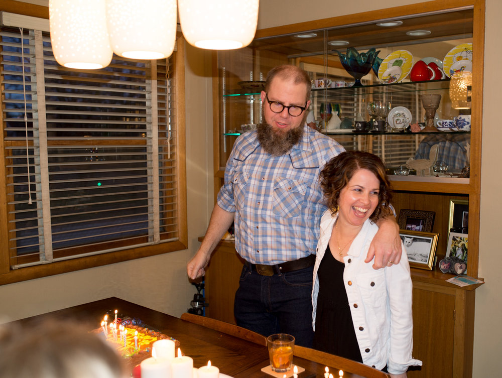 Joint Birthday Party for the 43 Year Olds. (Photo credit, Jodi Franken). March 18, 2017