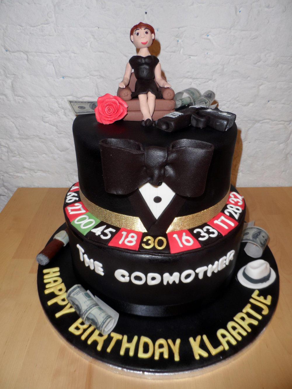 Maffia godfather cake
