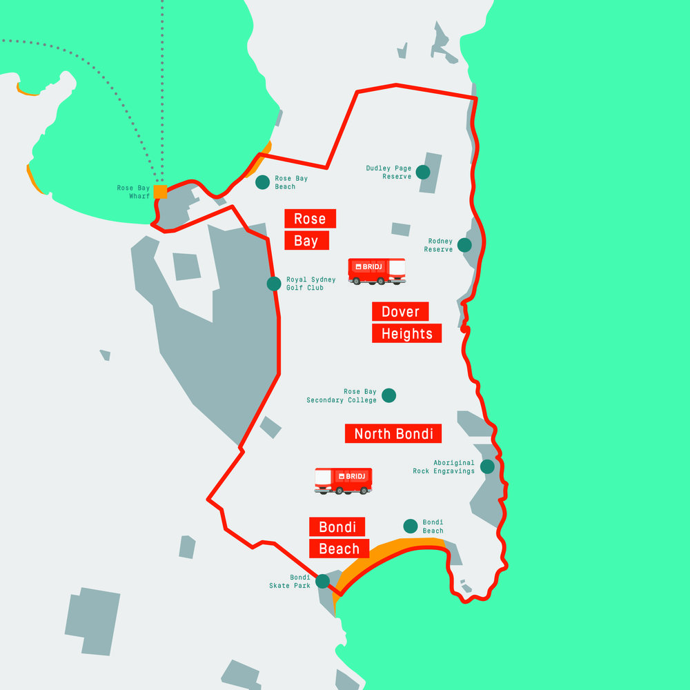 Rose Bay to Bondi Service Area