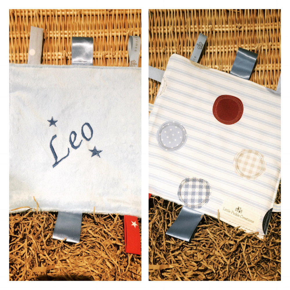 Sensory taggie blankets are a popular choice, with soft waffle fabric and 100% cotton fabric combined with a crinkle inside and lots of different texture tags we can see why!