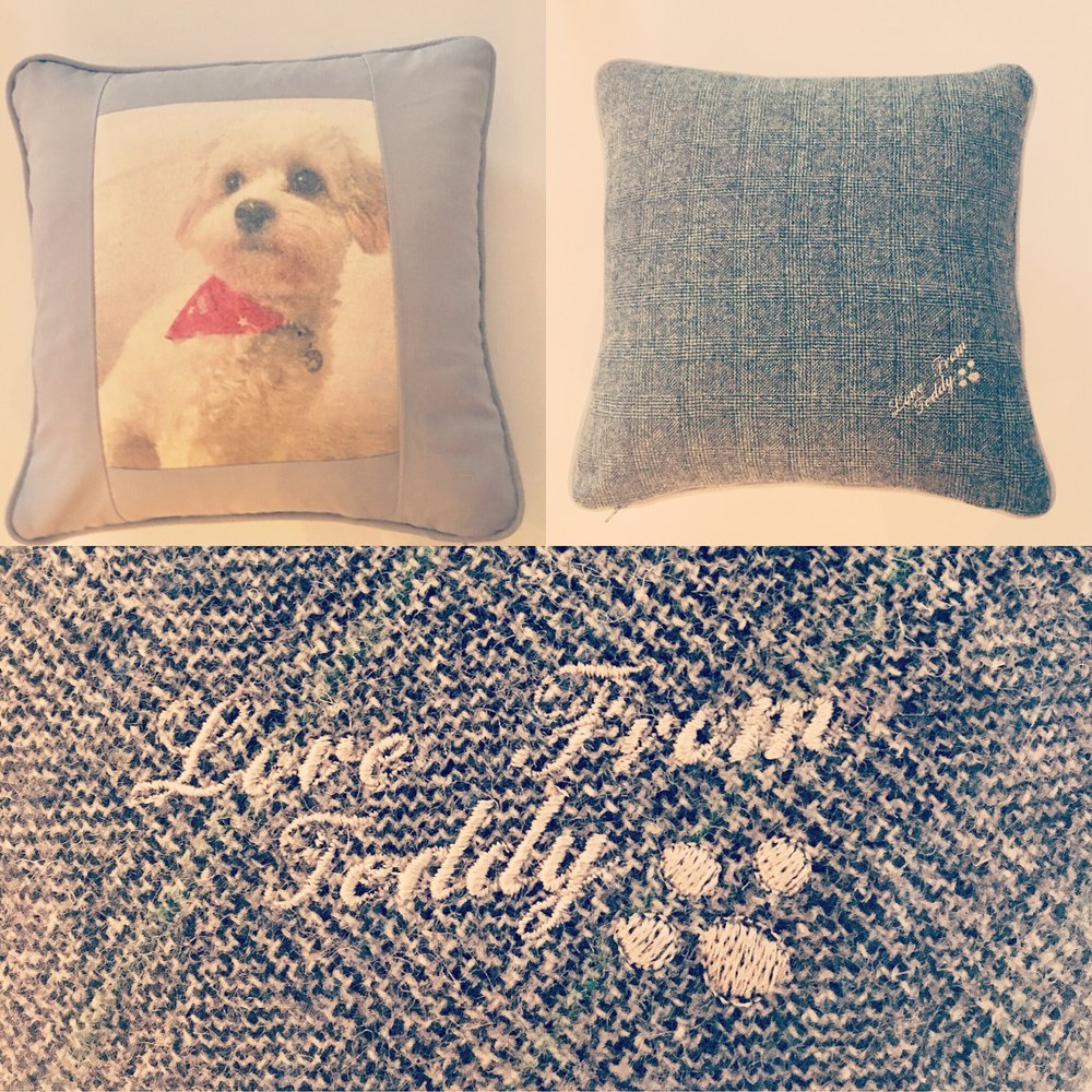 Your own pet picture on a cushion- Just one of our unique gifts available. We can add any picture for you, Animal or human!