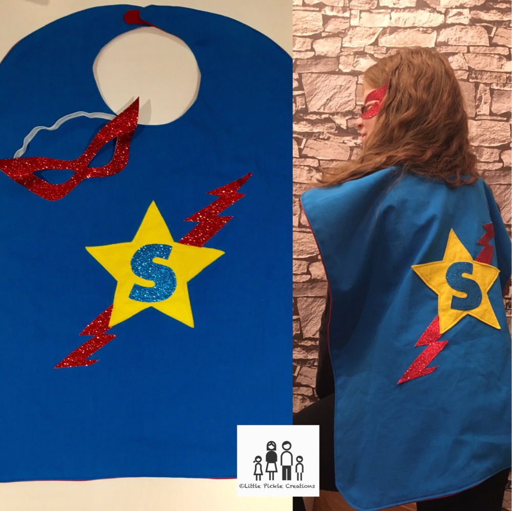 Let your little pickles be their favourite character with the help of our unique capes. Choose the theme and let us do the rest!
