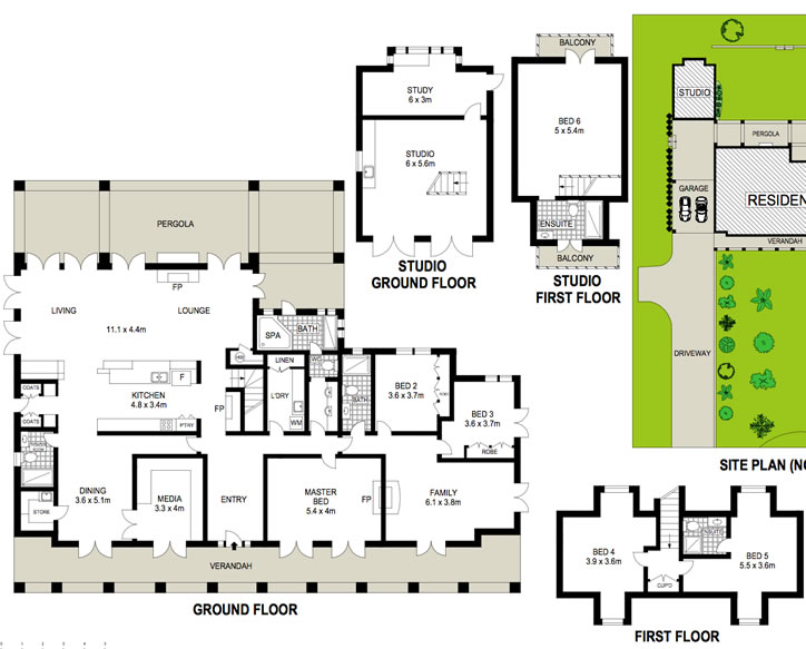 plan floor country house australian