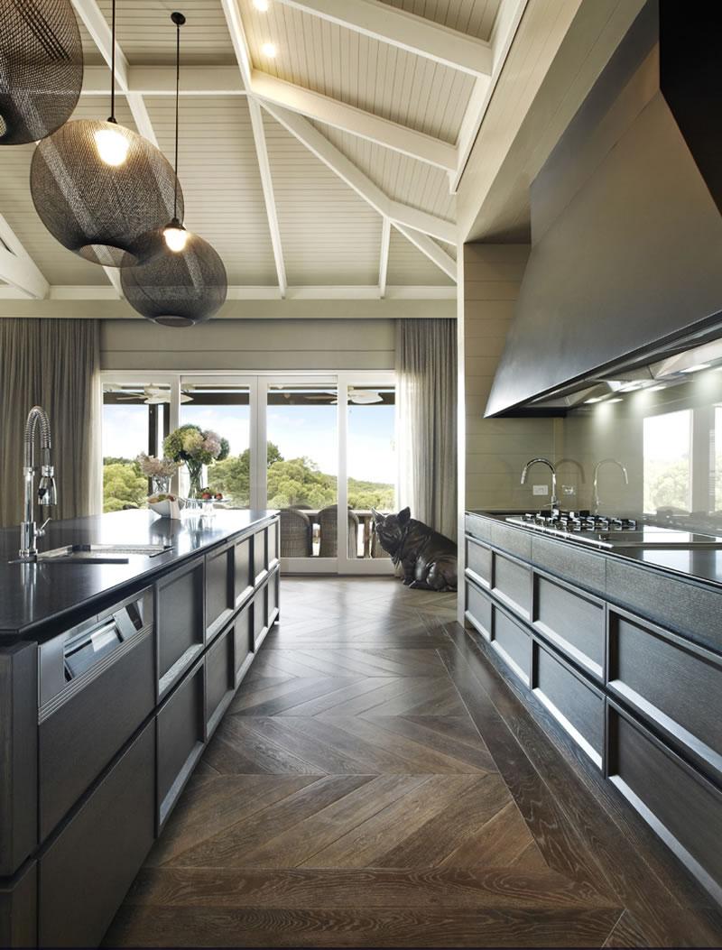 kitchen oak parquet floor