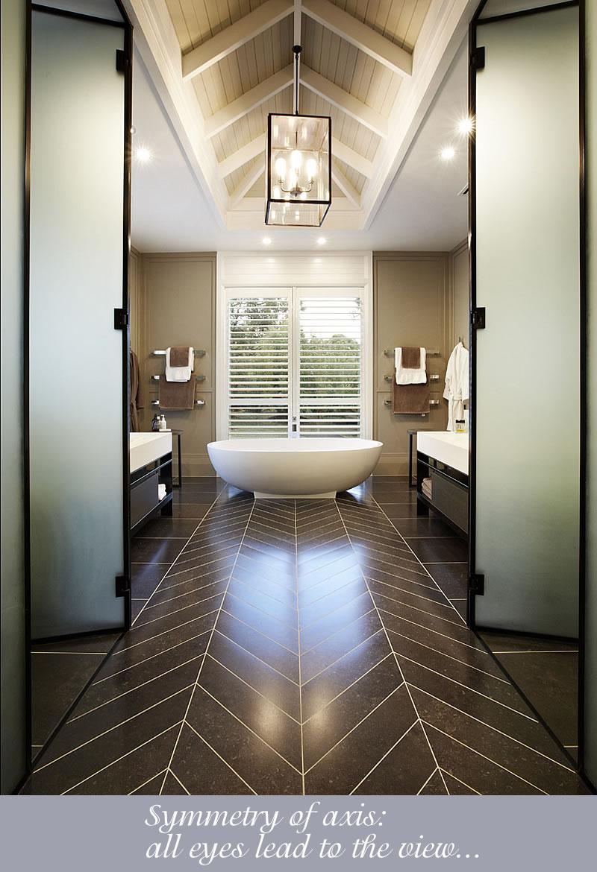 bathroom chevron floor tiles
