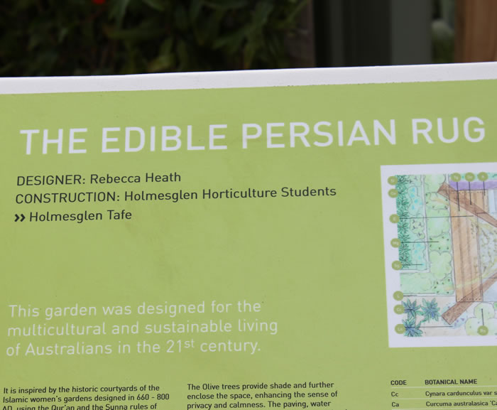 edible persian rug garden design by rebecca heath