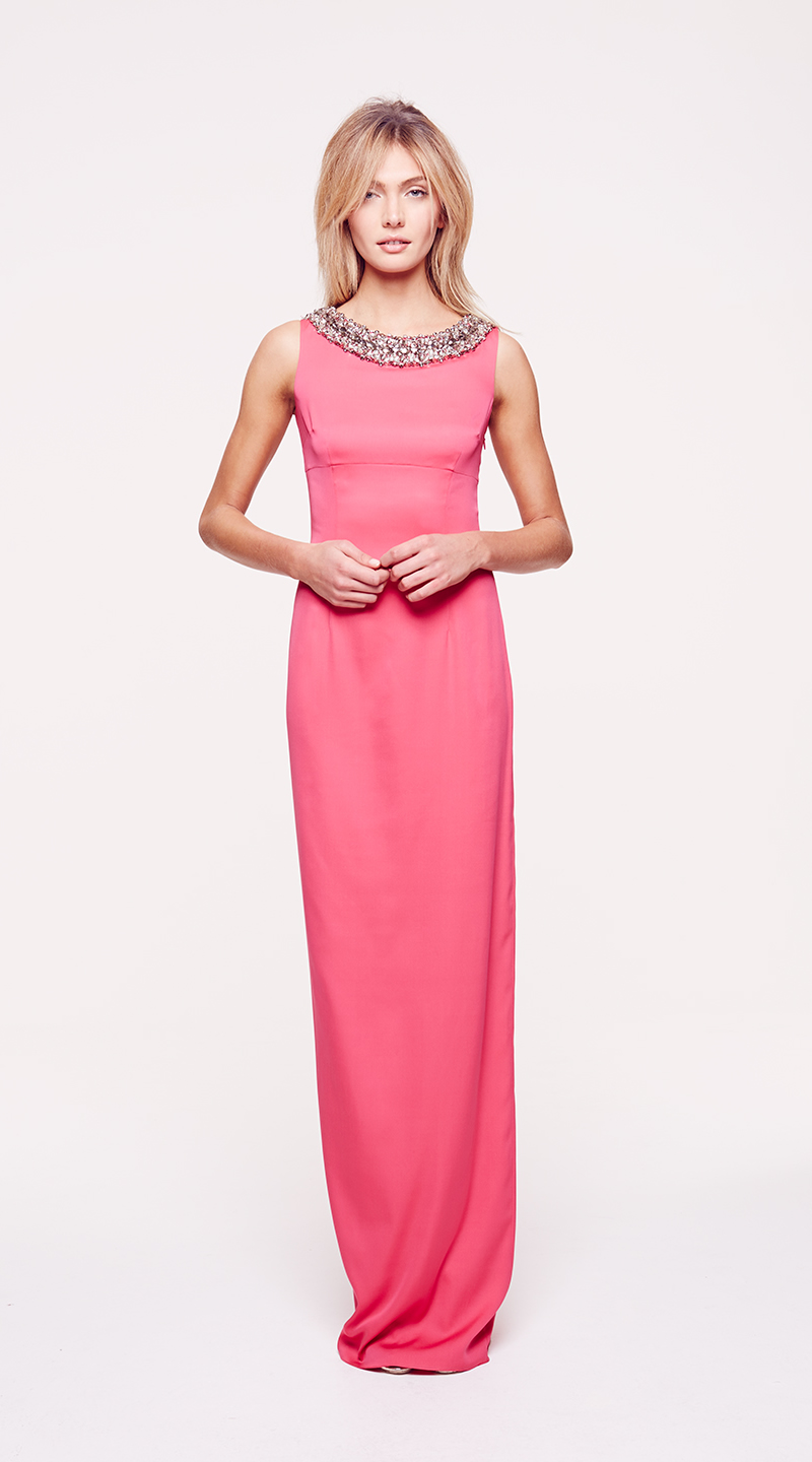 pink maxi dress ColletteDinnigan