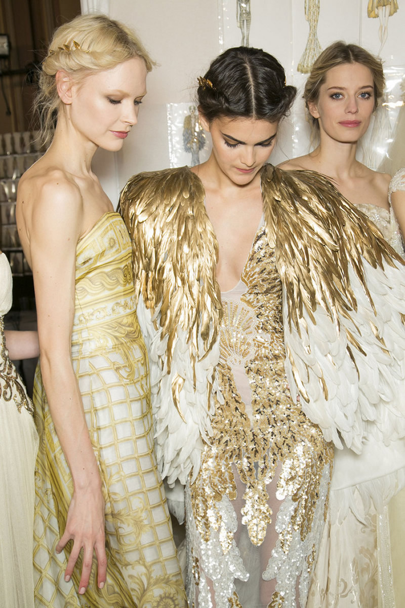 gold white Zuhair-Murad-Couture-Spring-2013-Backstage-13