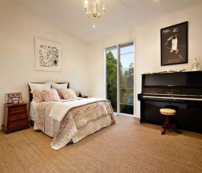 bedroom with piano beautiful 47 glen shian lane mt eliza