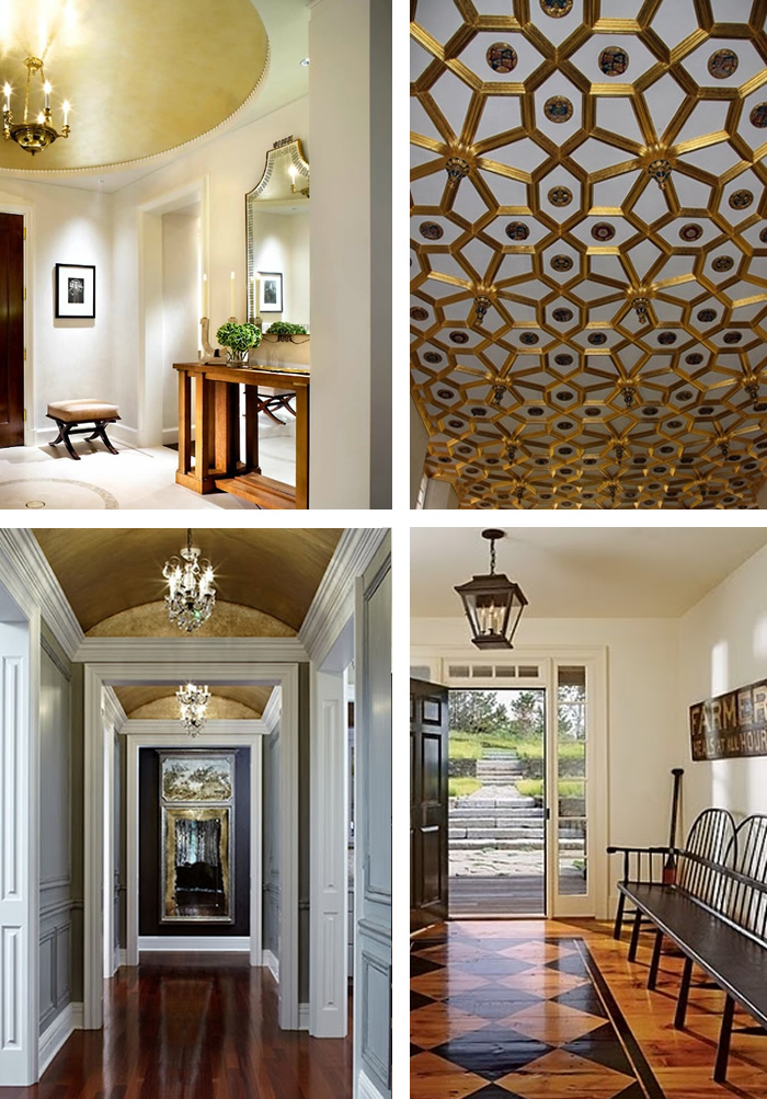 gold ceiling ideas for entry halls fabulous front entrance