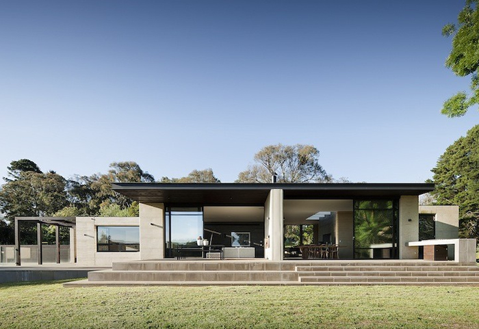 robson rak merricks house horizontal lines contemporary architecture
