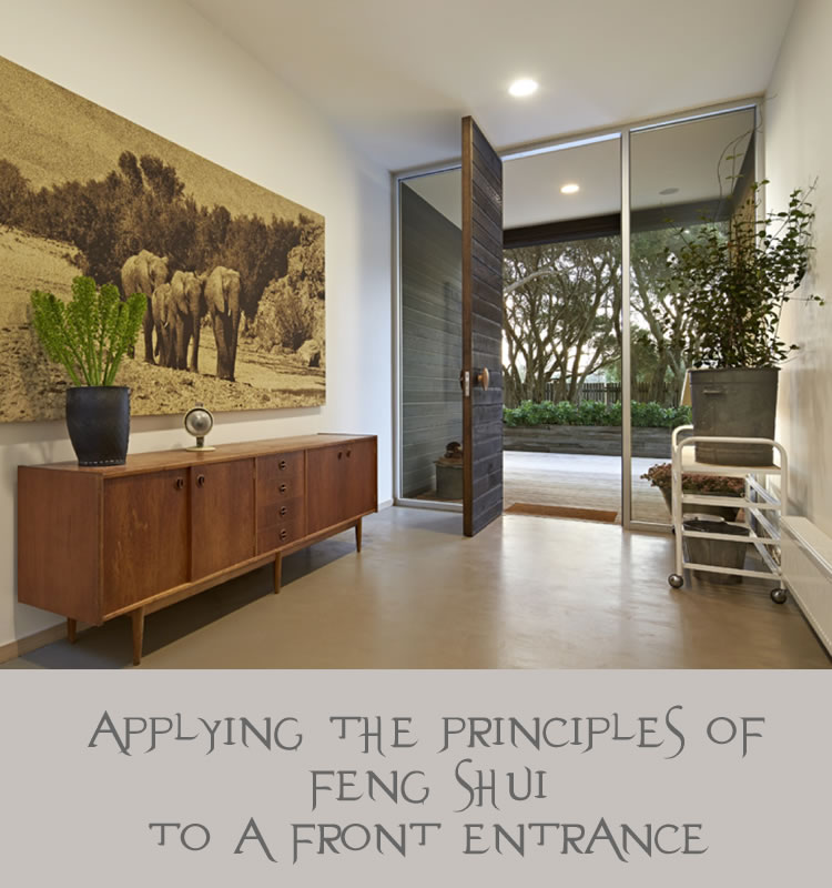 Fabulous front entrance feng shui glamour drops for Feng shui in building a house