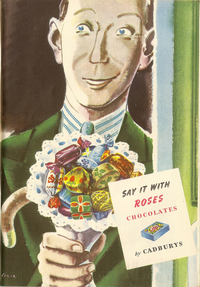 say it with roses 1950s ad