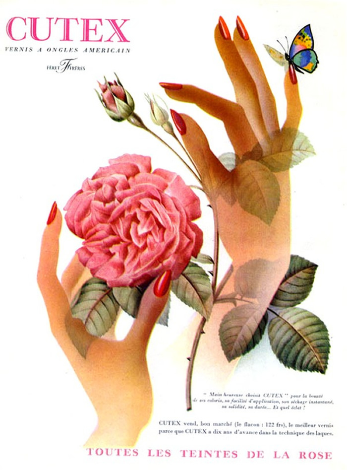 vintage cutex rose ad