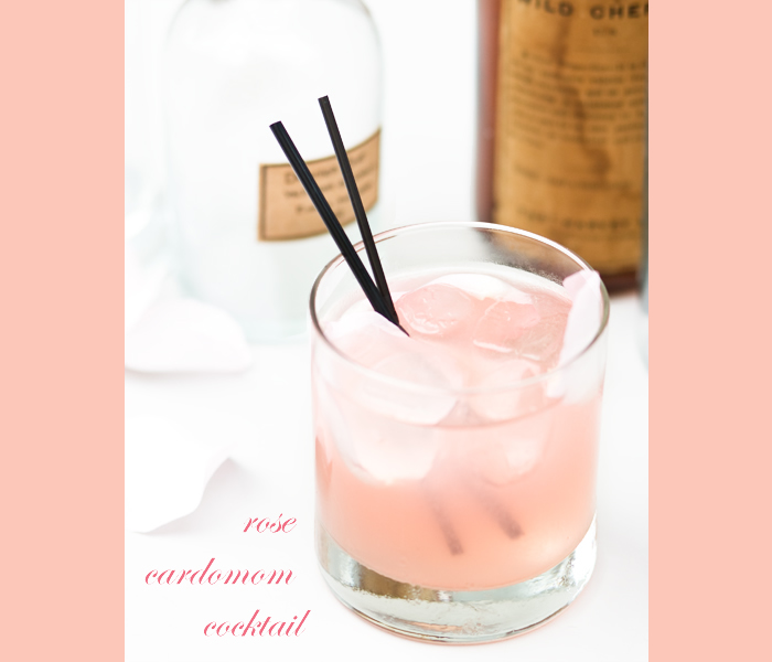rose cardomom cocktail