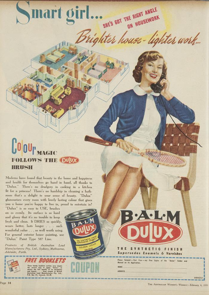 dulux ad 1950 australia