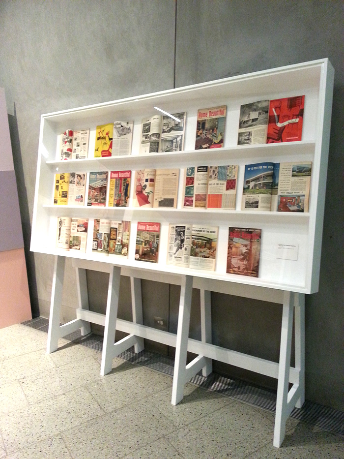 mid century modern inspired magazine display