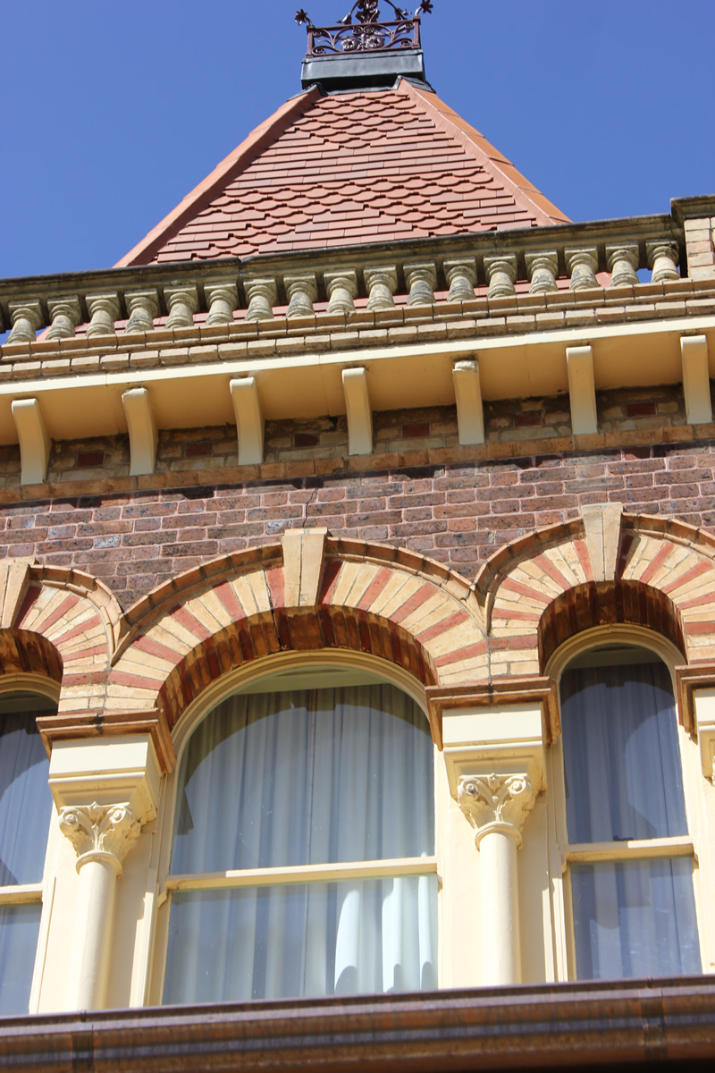 ripponlea late victorian mansion melbourne turret detail