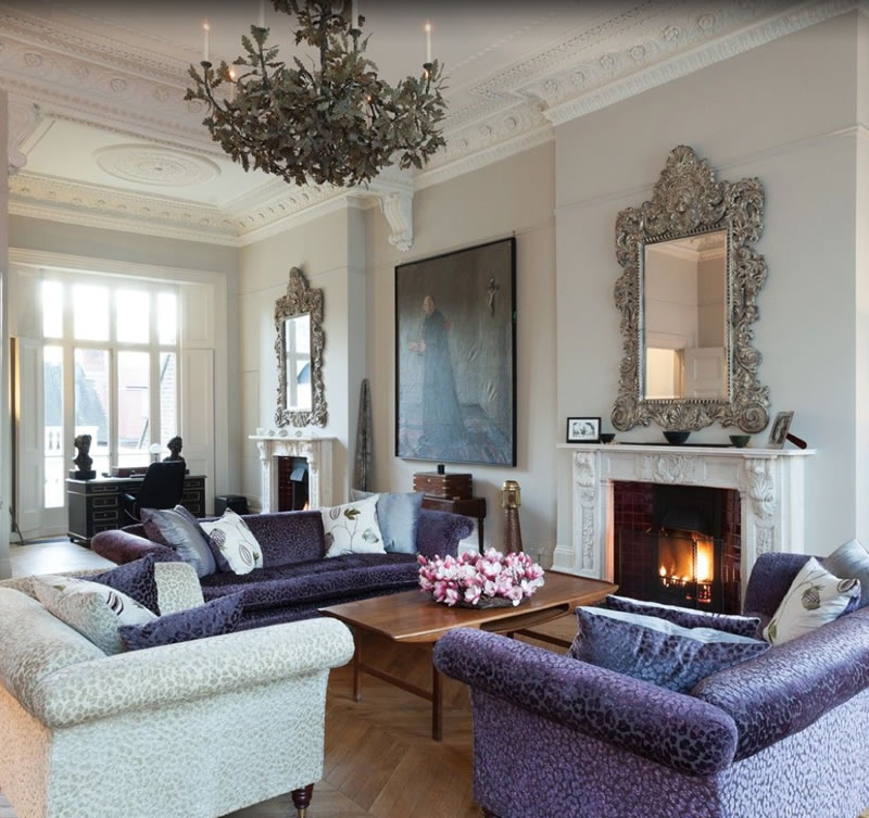 Would you love to live here a london townhouse with for Townhouse living room ideas
