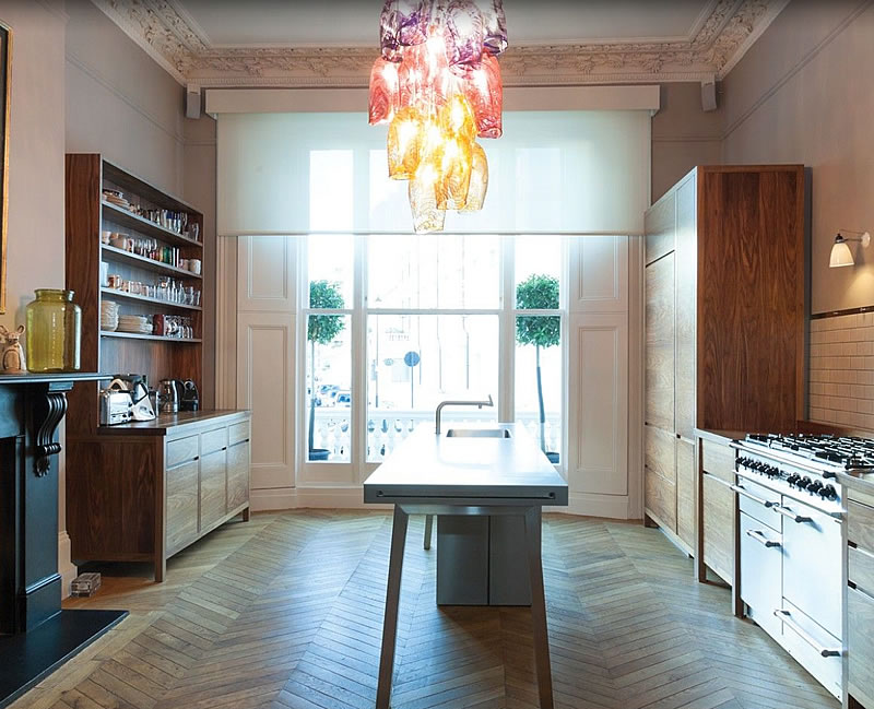 kitchen london herringbone parquet
