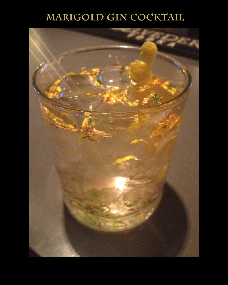 marigold cocktail with gin