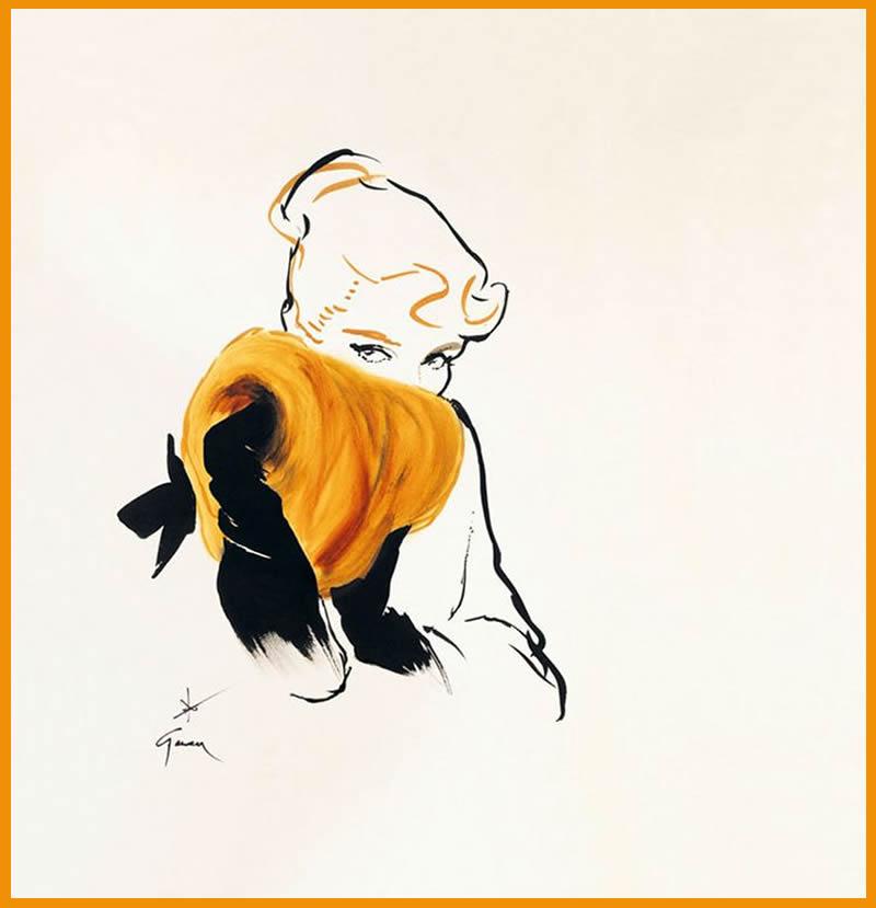 ginger fashion illustration rene gruau