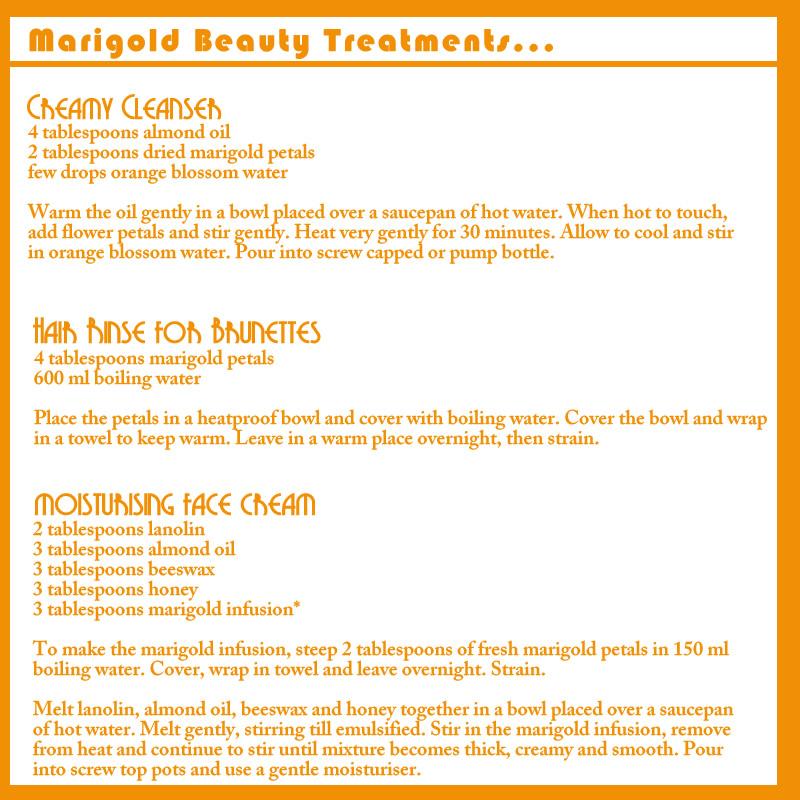 marigold beauty treatments diy recipes