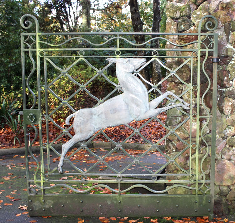 gate into alfred Nicholas memorial gardens burnham beeches