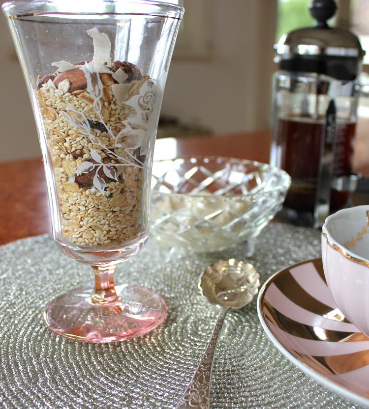 sugar free sesame seed muesli