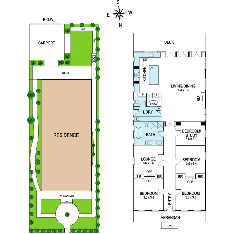 "A very typical floor plan for a late Victorian Villa : central corridor, ""good rooms"" at the front, new bubble extension out the rear to replace what would have been the lean-to kitchen..."