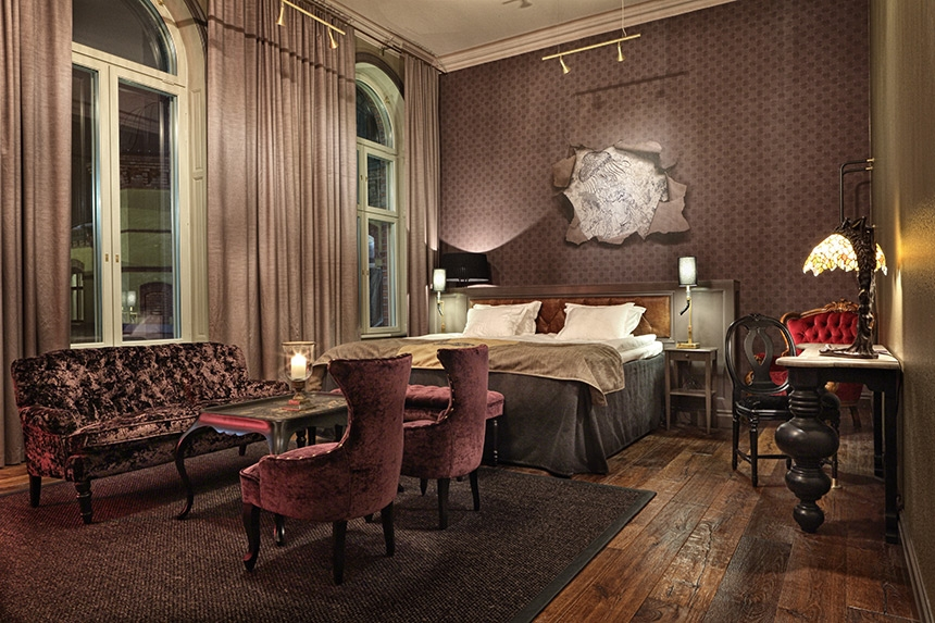 The Passion room….sumptuous fabrics, moody colours of plums and just a subtle hint of red...