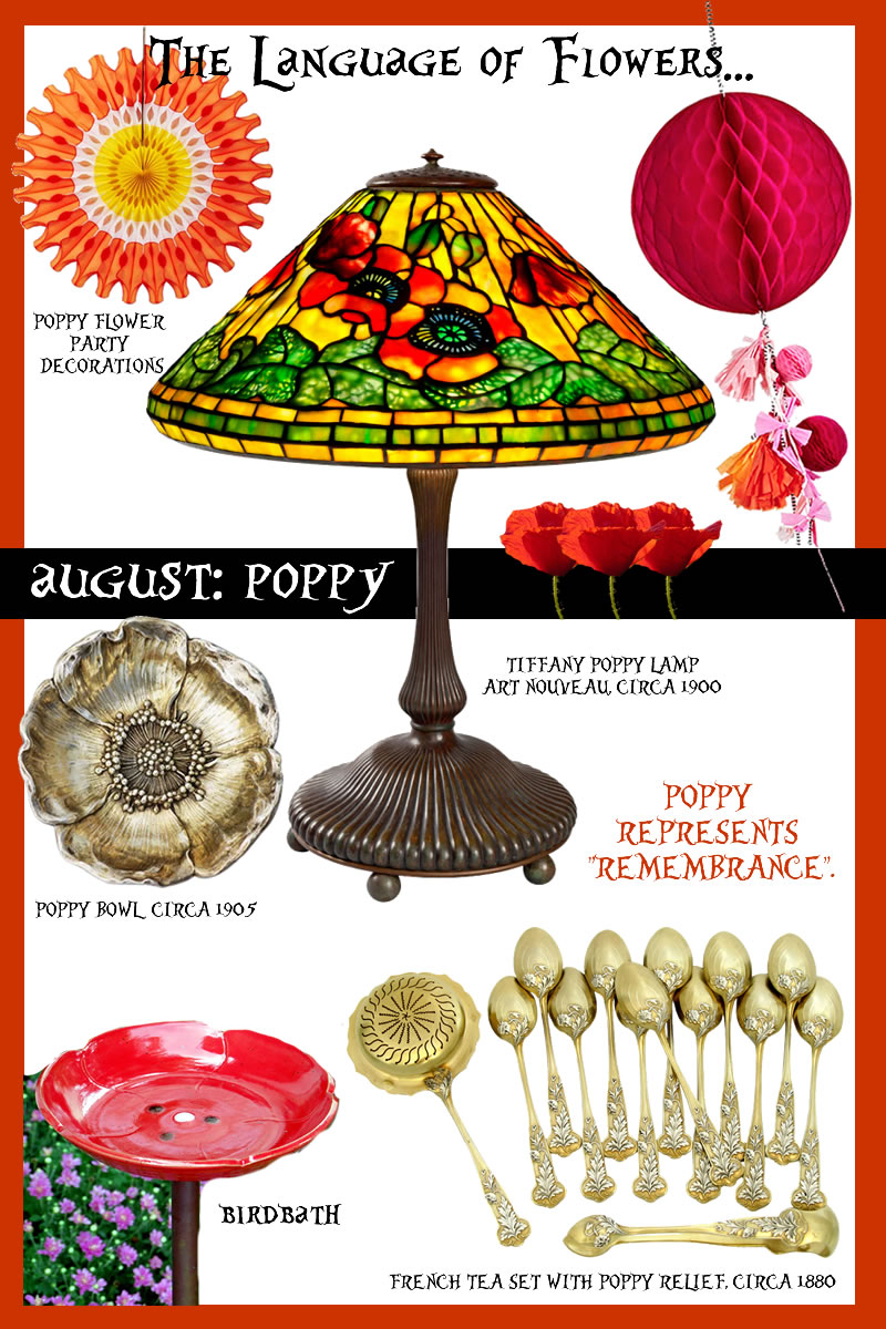 LANGUAGE OF FLOWERS AUGUST BIRTHFLOWER POPPY