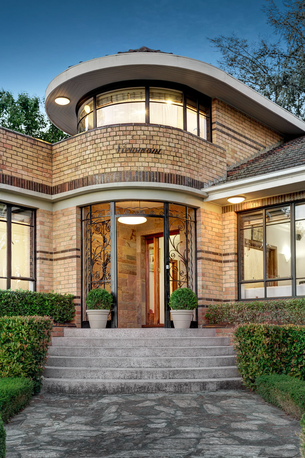 Historical architectural style the art deco waterfall Architectural home builders