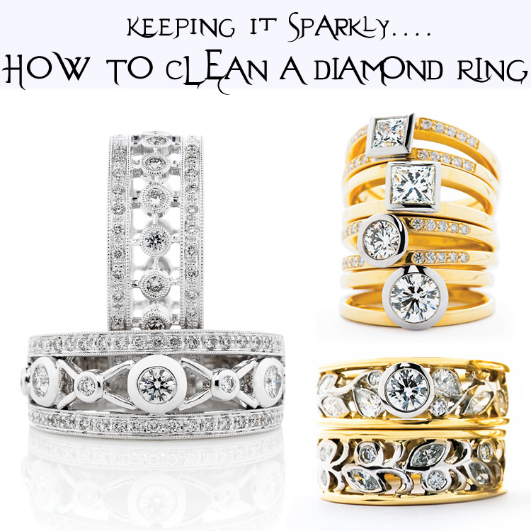 Using household ingredients, you can make your diamonds sparkle...