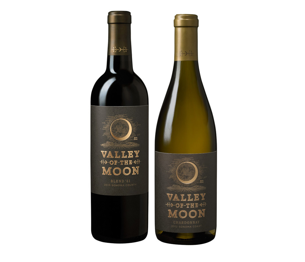 Valley of the moon label
