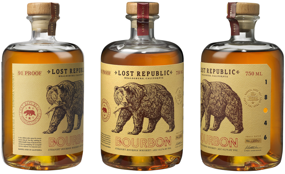 Auston Design Group - Lost Republic Bourbon - 3 Bottles