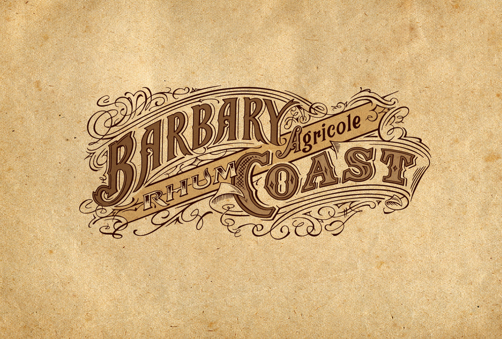 Auston Design Group - Raff Distillerie - Barbary Coast Rum Brandmark